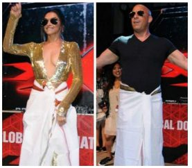 In Pics: When Deepika And Vin Shake Their Legs Together On 'Lungi Dance!'