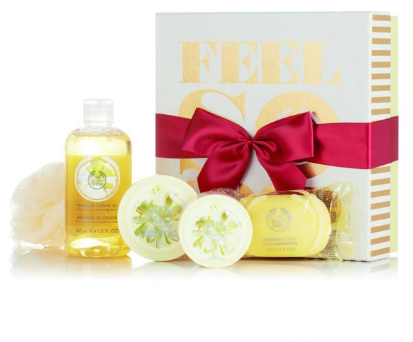 The Body Shop_MORINGA flavoured    bath and body gift set