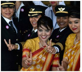 Women Power: Air India Sets A New Record With All Female Crew Flight