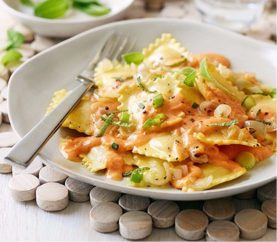 A Mexican Delicacy: Ravioli with Alfredo Sauce