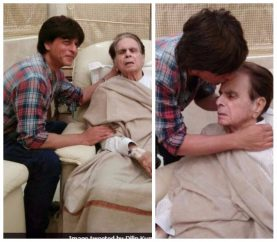 'Son' Shah Rukh Visits Legendary Actor Dilip Kumar At His Residence