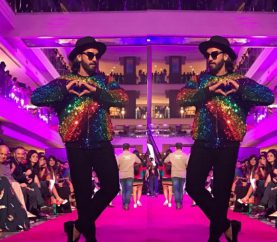 What A Sight Ranveer Singh Was At The Manish Arora LFW Show!