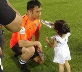 Ziva Offering Water To Papa MS Dhoni After A Match Is The Cutest Thing You'll See Today
