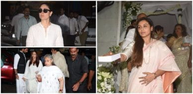 Bollywood Stars Visit Rani Mukerji To Offer Their Condolences