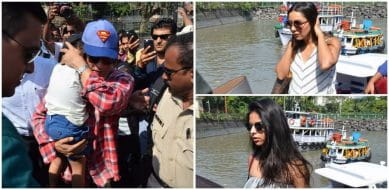 In Pics: SRK, Gauri and Suhana Spotted At The Gateway Of India