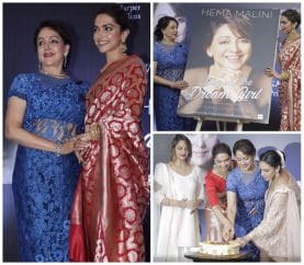Deepika Padukone Unveils Veteran Actress Hema Malini's Biography