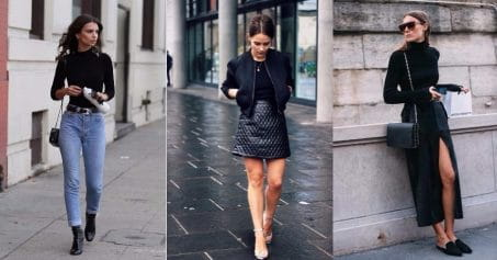 7 Ways To Style A Black Top