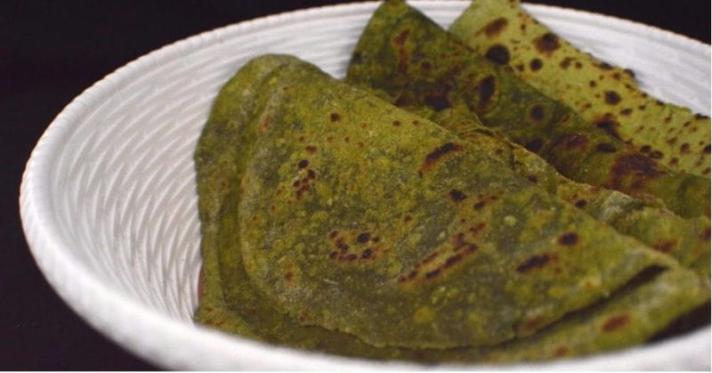 Healthy Food: Cabbage Spinach Paratha Recipe