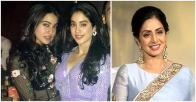 Sridevi Reacts To Daughter Jhanvi Kapoor Being Compared To Sara Ali Khan