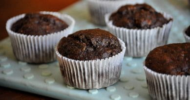 Healthy Dessert: Chocolate Bread Muffins