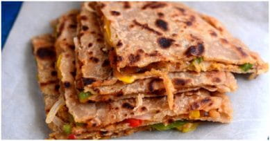 Delicious Dinner Recipe: Pizza Paratha