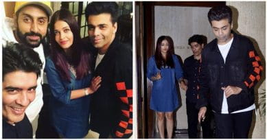 In Pics: Aishwarya & Abhishek Bachchan Party With Friends Karan Johar & Manish Malhotra