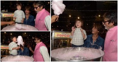 Amitabh Bachchan Shares Adorable Pictures Of AbRam Khan Eating Cotton Candy