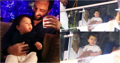 These Pictures Of Taimur Ali Khan On The Balcony Is An Incredibly Cute Sight