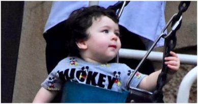 In Pics: Taimur Ali Khan Looks Extremely Cute While Swinging In A Park