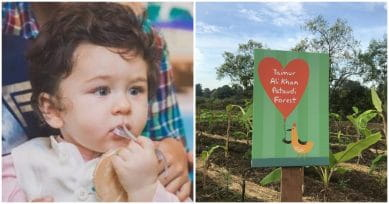Taimur Ali Khan Receives Forest Named After Him As A Gift