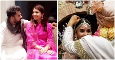 Anushka Sharma Is Every Bit The Blushing Bride In Pink As Virushka Return To Delhi