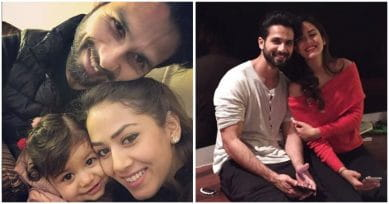 Mira, Shahid and Misha Wish Us Happy Holidays With The Cutest Family Portrait