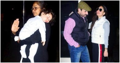 In Pics: Taimur Is Fast Asleep As Kareena & Saif Leave For Their Annual Vacation