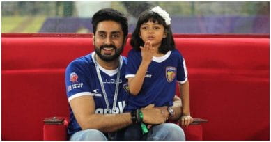 Abhishek Bachchan Posts Adorable Picture With Daughter Aaradhya In Matching Football Jerseys