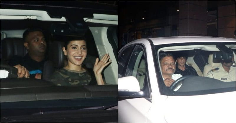 Anushka Sharma And Shah Rukh Khan Spotted Leaving Movie Set In Mumbai