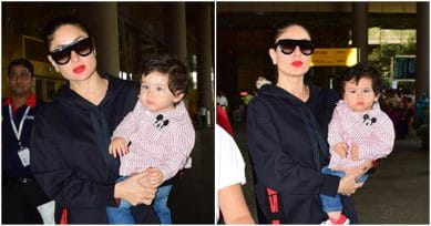 In Pics: Taimur Ali Khan And Mommy Kareena Return From Swiss Holiday