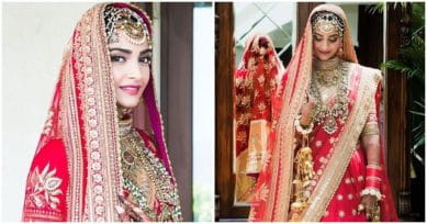 IN PICS: Sonam Kapoor Looks Gorgeous In Red On Her Wedding Day