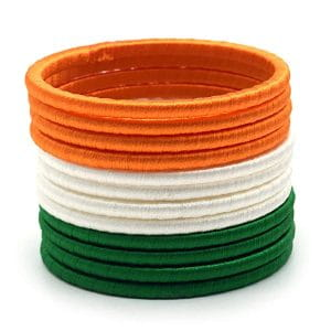 Tri-Coloured Thread Bangles