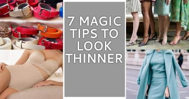 7 Tricks To Look Thinner In Any Outfit!