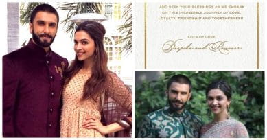 Breaking News: Deepika-Ranveer Wedding Dates Announced By Deepika On Instagram