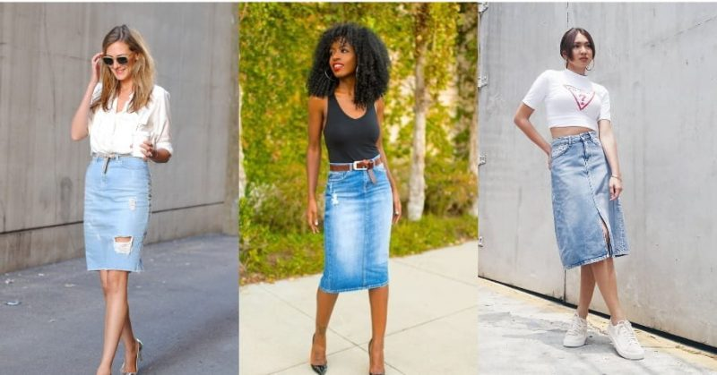Pick The Right Top To Wear With Your Denim Pencil Skirt