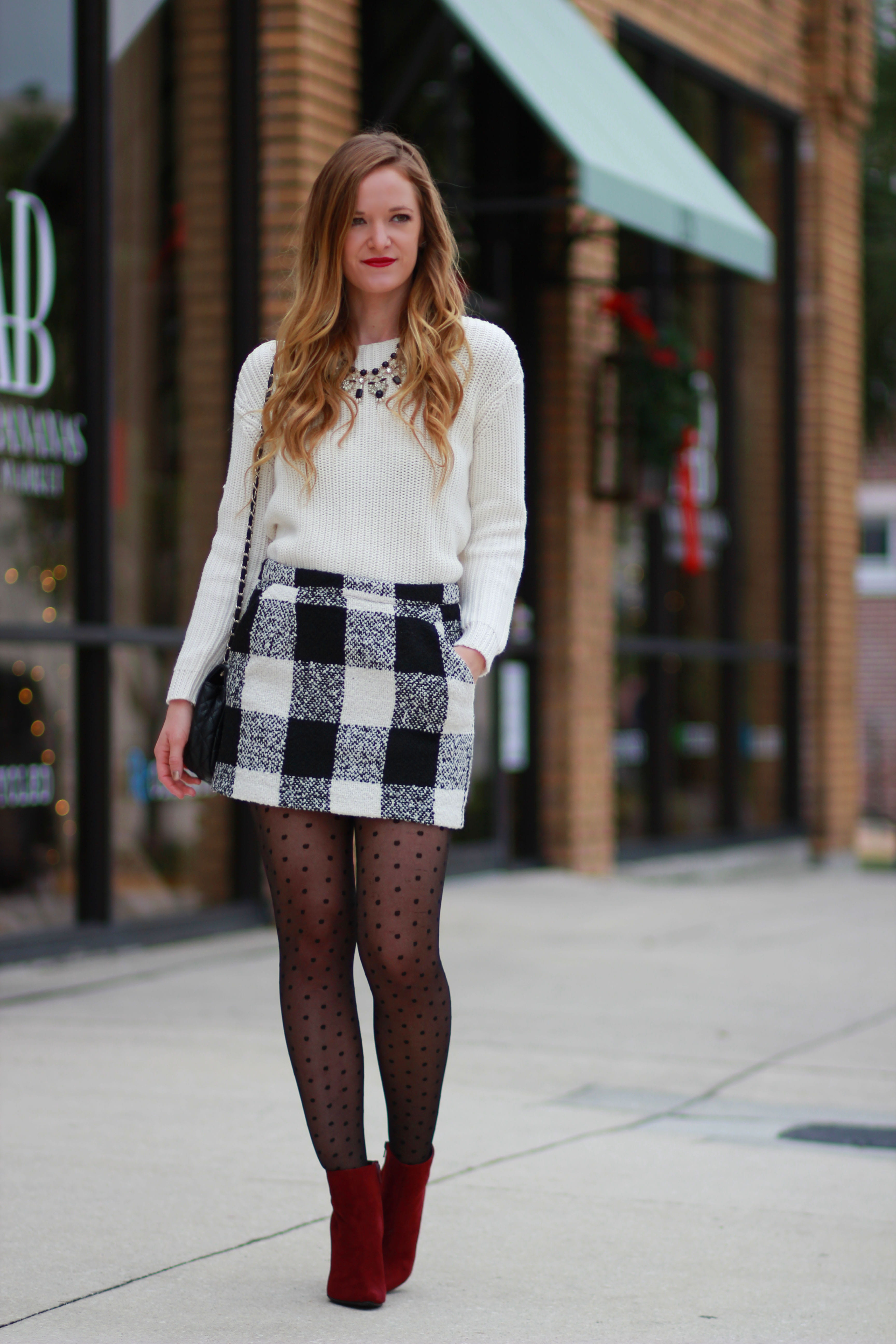 stockings with skirt