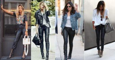 10 Ways Of Styling Leather Pants This Party Season